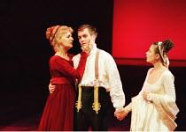 'CORIOLANUS' (Shakespeare)~l-r: Caroline Blakiston (Volumnia), Toby Stephens (Coriolanus), Monica Dolan (Virgilia)~Royal Shakespeare Company/Barbican Theatre, London EC2   10th August 1995