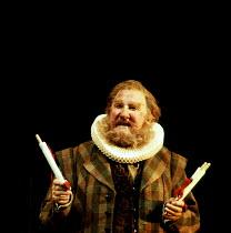 THE MERRY WIVES OF WINDSOR by Shakespeare  design: Tim Goodchild  lighting: Simon Tapping  director: Ian Judge   Leslie Phillips (Sir John Falstaff) Royal Shakespeare Company (RSC), Royal Shakespea...