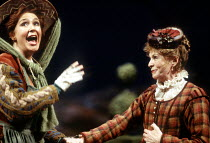 'THE MERRY WIVES OF WINDSOR' (Shakespeare)~l-r: Joanna McCallum (Meg Page), Susannah York (Alice Ford)~Royal Shakespeare Company / RST Stratford-upon-Avon         19/12/1996