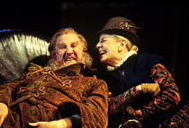 'THE MERRY WIVES OF WINDSOR' / CT 140~Leslie Phillips (Sir John Falstaff), Cherry Morris (Mistress Quickly) ~RSC/RST  19/12/1996 ~(c) Donald Cooper/Photostage   photos@photostage.co.uk   ref/CT-140