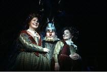 'THE MERRY WIVES OF WINDSOR' (Shakespeare) l-r: Joanna McCallum (Meg Page), Leslie Phillips (Sir John Falstaff), Susannah York (Alice Ford) RSC/RST, Stratford-upon-Avon  12/1996