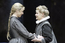 'ALL'S WELL THAT ENDS WELL' (Shakespeare - director: Gregory Doran)~l-r: Claudie Blakley (Helena), Judi Dench (The Countess of Rossillion)~Swan Theatre / Royal Shakespeare Company   Stratford-upon-Avo...