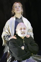 'ALL'S WELL THAT ENDS WELL' (Shakespeare - director: Gregory Doran)~Gary Waldhorn (King of France), Claudie Blakley (Helena)~Swan Theatre / Royal Shakespeare Company   Stratford-upon-Avon, England...