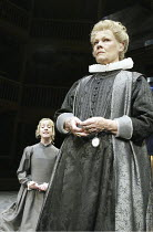 ALL'S WELL THAT ENDS WELL  by Shakespeare  set design: Stephen Brimson Lewis  costumes: Deirdre Clancy  lighting: Paul Pyant  director: Gregory Doran ~l-r: Claudie Blakley (Helena), Judi Dench (The Co...