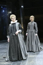 'ALL'S WELL THAT ENDS WELL' (Shakespeare - director: Gregory Doran)~l-r: Judi Dench (The Countess of Rossillion), Claudie Blakley (Helena)~Swan Theatre / Royal Shakespeare Company   Stratford-upon-Avo...