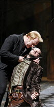 HENRY VI part I  by Shakespeare   director: Michael Boyd,II/iv -Temple Garden - l-r: Clive Wood (Richard Plantagenet), Nicholas Asbury (Duke of Somerset),part of RSC ^The Complete Works^ Festival - Ap...