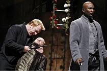 HENRY VI part I  by Shakespeare   director: Michael Boyd,II/iv -Temple Garden - l-r: Clive Wood (Richard Plantagenet), Nicholas Asbury (Duke of Somerset), Patrice Naimambana (Earl of Warwick),part of...