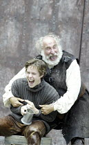 'HENRY IV/i ' (Shakespeare - director: Alan Strachan)~l-r: Jordan Frieda (Prince Hal), Christopher Benjamin (Falstaff)~Open Air Theatre / Regent's Park, London                    07/06/2004