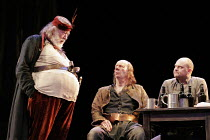 HENRY IV part i' (Shakespeare - director: Nicholas Hytner),II/iv - The Boar's Head - l-r: Michael Gambon (Sir John Falstaff), Roger Sloman (Bardolph), Andrew Westfield (Peto),Olivier Theatre / Nationa...