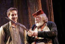 HENRY IV part i' (Shakespeare - director: Nicholas Hytner),II/iv - The Boar's Head, l-r: Matthew Macfadyen (Henry, Prince of Wales/Hal), Michael Gambon (Sir John Falstaff),Olivier Theatre / National T...