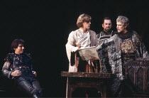 HENRY IV part i   by Shakespeare   director: Trevor Nunn,III/i - l-r: Timothy Dalton (Henry Percy / Hotspur), Simon Templeman (Edmund Mortimer), ,John Franklyn-Robbins (Thomas Percy, Earl of Worcester...