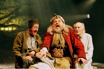 'HENRY IV pt.ii' (Shakespeare)~l-r: Benjamin Whitrow (Shallow), Desmond Barrit (John Falstaff), Peter Copley (Silence)~RSC/Swan Theatre, Stratford-upon-Avon  06/2000