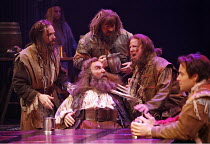 HENRY IV part ii  by Shakespeare   director: Barbara Gaines,seated centre: Greg Vinkler (Sir John Falstaff),Chicago Shakespeare Theatre / RSC Swan Theatre, Stratford-upon-Avon, England    11/07/2006,p...