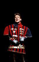 HENRY V   by Shakespeare   design: Bob Crowley   lighting: Robert Bryan   director: Adrian Noble  ~Kenneth Branagh (Henry V)~RSC/RST, Stratford-upon-Avon 1984    Barbican Theatre, London 1985