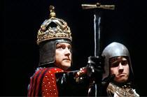 HENRY V   by Shakespeare   design: Bob Crowley   lighting: Robert Bryan   director: Adrian Noble  ~Kenneth Branagh (Henry)~RSC/RST   Stratford-upon-Avon   1984