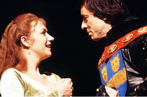 'HENRY VI part i' (Shakespeare)~Helen Mirren (Queen Margaret), Peter McEnery (Suffolk)~Royal Shakespeare Company   Aldwych Theatre, London   1978