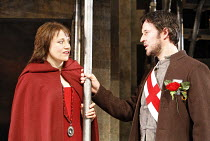 WARS OF THE ROSES - HENRY VI   by Shakespeare   adapted and directed by Barrie Rutter,Helen Sheals (Queen Margaret), Andrew Cryer (Suffolk),Northern Broadsides / West Yorkshire Playhouse co-production...