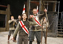 WARS OF THE ROSES - HENRY VI   by Shakespeare   adapted and directed by Barrie Rutter,l-r: Danny Burns (John Talbot), Mark Stratton (Old Talbot),Northern Broadsides / West Yorkshire Playhouse co-produ...