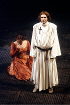 'The Plantagenets - HENRY VI' (Shakespeare)~Penny Downie (Margaret), Ralph Fiennes (Henry VI)~Royal Shakespeare Company   1988/9