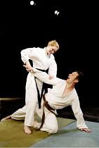 'HENRY VIII' (Shakespeare) Cara Sweeney (Anne Boleyn), Simon Merrells (King Henry VIII) Bridewell Theatre, London EC4               07/06/2002