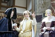 RICHARD II  by Shakespeare  Master of Properties (designer): Jenny Tiramani  Master of Fights: John Waller  Master of Play (director): Tim Carroll  ~V/i - l-r: Michael Brown (Queen Isabel), Mark Rylan...