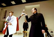 RICHARD II  by Shakespeare  design: Sue Wilmington with David Fielding  lighting: Simon Kemp  fights: Terry King  director: Steven Pimlott   Richard prepares to surrender his crown to Bolingbroke - l...
