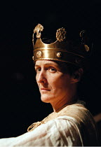 RICHARD II   by Shakespeare design: Hildegard Bechtler lighting: Peter Mumford director: Deborah Warner~Fiona Shaw (Richard)~Cottesloe Theatre /National Theatre, London SE1  02/06/1995