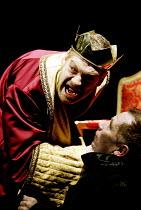 RICHARD III  by Shakespeare  design: Christopher Oram  lighting: Tim Mitchell  director: Michael Grandage   Richard orders the death of the Princes - l-r: Kenneth Branagh (Richard III), Danny Webb (B...