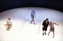 THE TEMPEST   by Shakespeare   director: Nicholas Hytner,l-r: Desmond Barrit (Trinculo), Duncan Bell (Ariel), Campbell Morrison (Stephano), John Kane (Caliban),Royal Shakespeare Company / Royal Shakes...