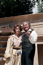THE TEMPEST by Shakespeare  director: Patrick Garland   Debra Beaumont (Miranda), Denis Quilley (Prospero)  Open Air Theatre (OAT), Regent's Park, London NW1  13/06/1996 (c) Donald Cooper/Photostag...
