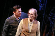 THE CARETAKER   by Harold Pinter   director: Jamie Lloyd <br>,l-r: Nigel Harman (Mick), David Bradley (Davies),Sheffield Theatres production / Tricycle Theatre, London NW6   16/03/2007,