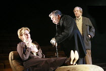 THE CHERRY ORCHARD   by Chekhov   director: Jonathan Miller <br>,l-r: Joanna Lumley (Madame Ranevskaya), Timothy Bateson (Firs), Peter Eyre (Gayev),Crucible Theatre / Sheffield, England              2...