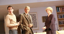 THE LADY FROM DUBUQUE   by Edward Albee   director: Anthony Page <br>,l-r: Robert Sella (Sam), Peter Francis James (Oscar), Maggie Smith (Elizabeth),Theatre Royal Haymarket, London SW1...