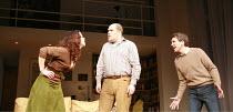 THE LADY FROM DUBUQUE   by Edward Albee   director: Anthony Page <br>,l-r: Jennifer Regan (Carol), Glenn Fleshler (Fred), Robert Sella (Sam),Theatre Royal Haymarket, London SW1                     20/...