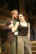 THE TAMING OF THE SHREW   by Shakespeare   director: Nick Hutchison <br>, Oliver Chris (Petruchio), Rachael Stirling (Katherine),Wilton^s Music Hall, London E1                        22/03/2007      ,
