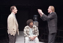BLUE/ORANGE   by Joe Penhall - director: Roger Michell <br>,l-r: Andrew Lincoln (Bruce), Chiwetel Ejiofor (Christopher), Bill Nighy (Robert),Cottesloe Theatre / National Theatre, London SE1        13/...