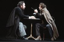 TOTAL ECLIPSE   by Christopher Hampton   director: David Hare <br>,l-r: Simon Callow (Verlaine), Hilton McRae (Rimbaud),Lyric Hammersmith, London W6                    04/1981,