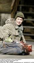 'CYMBELINE' (Shakespeare - director: Michael Bogdanov)~Nia Roberts (Imogen) with Cloten's headless corpse~Ludlow Castle / England    26/06/2004