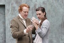 'CYMBELINE' (Shakespeare - director: Rachel Kavanaugh),I/ii: Daniel Flynn (Posthumus), Emma Pallant (Imogen),Open Air Theatre / Regent's Park, London                    10/06/2005           ,