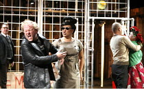 CYMBELINE   after Shakespeare   adapted and directed by Emma Rice   writer: Carl Grose,l-r: Craig Johnson (Cloten), Carl Grose (Posthumus), Emma Rice (The Queen), Mike Shepherd (Cymbeline), Hayley Car...