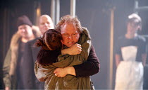 CYMBELINE   after Shakespeare   adapted and directed by Emma Rice   writer: Carl Grose,Posthumus and Imogen reunited: Carl Grose (Posthumus), Hayley Carmichael (Imogen),Kneehigh Theatre for the RSC's...