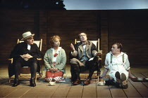 'LOVE'S LABOUR'S LOST' (Shakespeare - director: Ian Judge),l-r: Raymond Bowers (Sir Nathaniel), Sara Weymouth (Jaquenetta), John Normington (Holofernes), Mark Lewis Jones (Costard),Royal Shakespeare C...