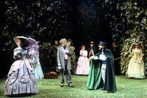 'LOVE'S LABOUR'S LOST' (Shakespeare)~front, l-r: Carol Royle (Princess of France), David Killick (Boyet), Simon Russell Beale (King of Navarre)~RSC / Royal Shakespeare Theatre, Stratford-upon-Avon...