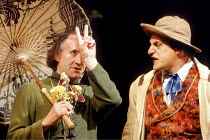 'LOVE'S LABOUR'S LOST' (Shakespeare)~l-r: Paul Webster (Sir Nathaniel), David Troughton (Holofernes)~RSC / Barbican Theatre, London                     1991