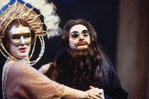 'LOVE'S LABOUR'S LOST' (Shakespeare - director: Ian Judge),Virginia Grainger (Katharine), Robert Portal (Dumaine),Royal Shakespeare Company / Barbican Theatre, London EC2       05/1994       ,