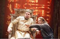 KING JOHN   by Shakespeare   director: Josie Rourke,V/i - l-r: Richard McCabe (King John), Joseph Millson (Philip Faulconbridge, The Bastard),part of RSC ^The Complete Works^ Festival - April 2006-Mar...
