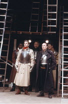 'KING JOHN' (Shakespeare - director: Deborah Warner),front left: Ralph Fiennes (Lewis the Dauphin),Royal Shakespeare Company / The Other Place     Stratford-upon-Avon                10/05/1988       ,
