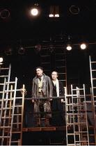 'KING JOHN' (Shakespeare - director: Deborah Warner),l-r: Robert Demeger (Hubert), Nicholas Woodeson (King John),Royal Shakespeare Company / The Other Place     Stratford-upon-Avon                10/0...
