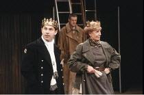 'KING JOHN' (Shakespeare - director: Deborah Warner),Nicholas Woodeson (King John), Cherry Morris (Queen Eleanor),Royal Shakespeare Company / The Pit, Barbican Theatre, London EC2         1989...