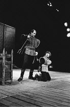 KING JOHN  by Shakespeare  director: Buzz Goodbody <br>~l-r: Anthony Langdon (Hubert), Colin Mayes (Athur/CHECK),~Royal Shakespeare Company (RSC) / Theatregoround  1970,